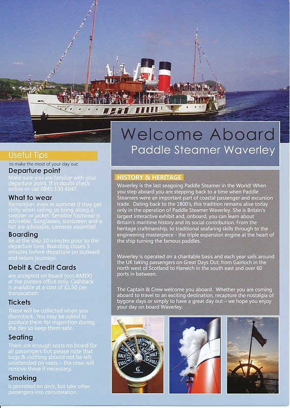 Paddle Steamer Waverley - Can you take a steamer on a cruise ship